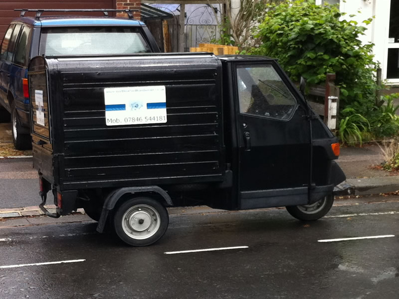 the north oxford handyman - piaggio ape 50 van